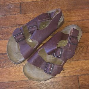 Birkenstock papillio Milano brown leather ankle 42